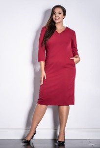 NADIN bordowa Plus Size - Premium