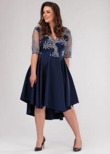 f76a63f274 Wieczorowa sukienka Plus Size z koła zdobiona koronką WYSYŁKA 24H