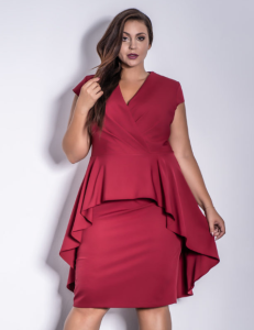 SIMONE bordowa Plus Size - Premium