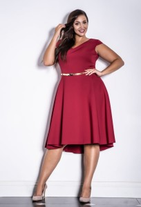 KAREN bordowa Plus Size - Premium