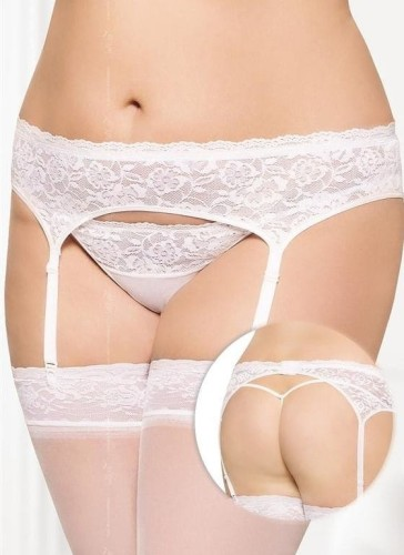 PAS DO POŃCZOCH  plus size XXL + STRINGI XXL model 3305