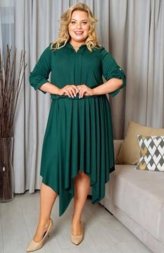 a40a0687b5 Asymetryczna Sukienka Plus Size z zębami (r.44-56) - Sklep ...