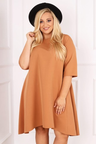Trapezowa sukienka plus size HONEY ( r. 44-52)
