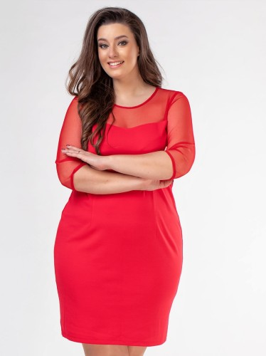 c818c4f707 Ołowkowa sukienka plus size z tiulem WYSYŁKA 24H - Sklep internetowy ...