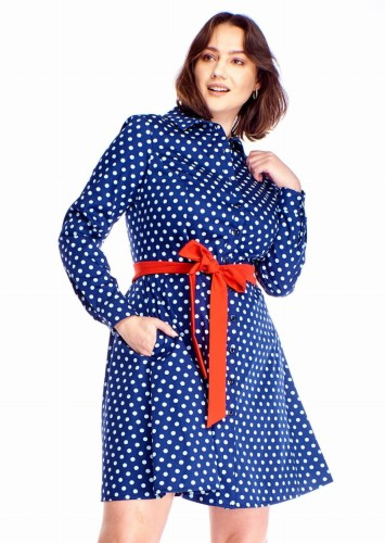 19464c2d6a Rozkloszowana sukienka Plus Size w kropki (r. 46-52) WYSYŁKA 24H ...