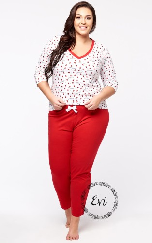 Piżama LADY - plus size (r.44-60)